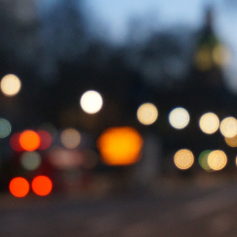 Blurred road - Lights